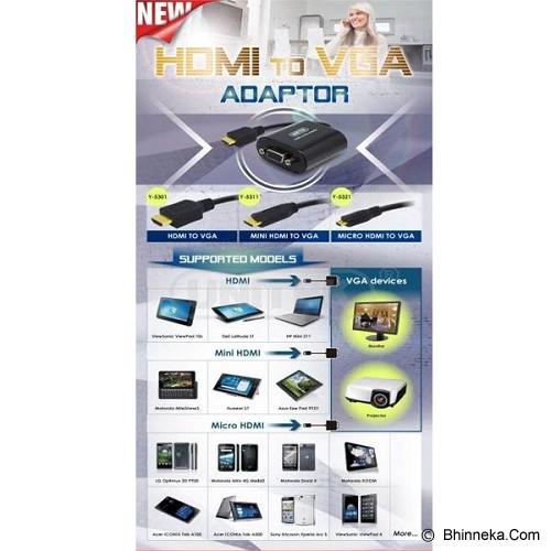 UNITEK Micro HDMI to VGA Converter [Y-5321] - Cable / Connector Hdmi